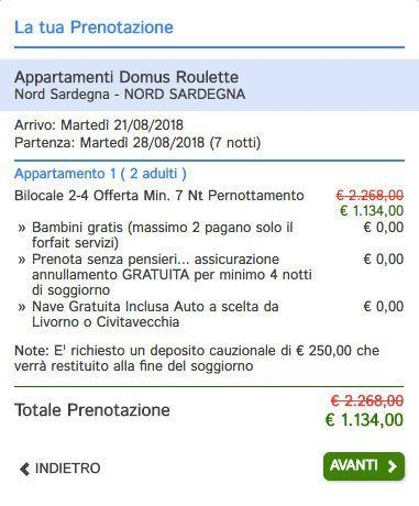 Vacanze Last Minute Sardegna Nave Gratis - Agosto e Settembre - Avitur